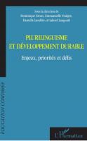 Plurilinguisme et développement durable 2020